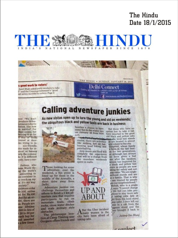 Rocksport Challenge - India's first adventure Race!Jump over the